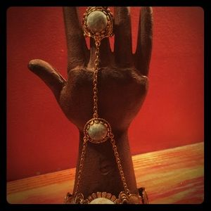 Jewelry - Vintage gypsy bracelet / ring combo